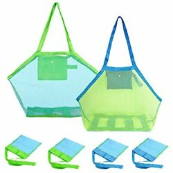6 Pack Mesh Beach Bag Extra Large Bags And Totes Foldable Children Toys 2 PCS $22.13