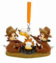Disney Parks Chip And Dale At Campfire Figurine Ornament Camping