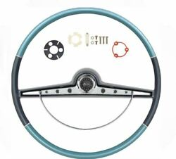 Oer Two Tone Blue Steering Wheel Kit 1963 Chevy Impala Bel Air Biscayne Ss Cente