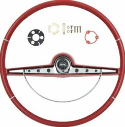 Oer Ss Red Steering Wheel Kit 1963 Chevy Impala Bel Air Biscayne Ss Emble
