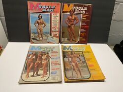 4 Musclemag Bodybuilding Magazine Premiere Issue 1974 1977 Arnold Rocky Namath