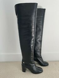 Wrinkled Leather Over The Knee Boots 19b