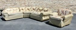 Mint 1950and039s 4 Pc Set Sofa And Chair Still In Plastic Unused Atomic