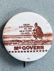 Vintage From California to the New York Islands George McGovern Pinback Button