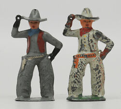 Two Barclay Cowboys No Lassos Dime Store Figure