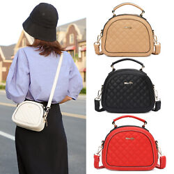 Women Quilted Shell Handbag Small Shoulder Crossbody Purse Checkered Satchel Bag $14.59