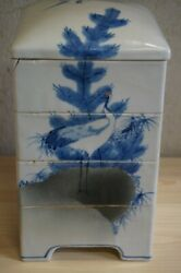 Japan Seto Multitiered Ceramic Boxes For Food From The Meiji Period 1868-1912