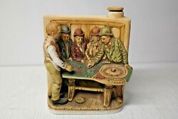 1975 Haas Brothers Tonopah Nevada Saloon Roulette Table Bourbon Whiskey Decanter