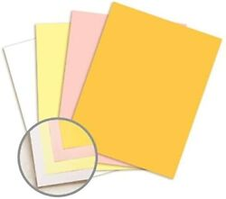 Pre Collated, Carbonless Paper, 4 Part Reverse, 125 Sets Per Ream White, Canary