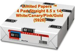 Limited Paperstm Paper, Carbonless Sheets, Superior, Pre Collated, Multi Part,