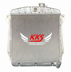 Polished Kks Aluminum Radiator Fit 1943-48 Chevy Cars Sedan Coupe 6cyl 3 Rows