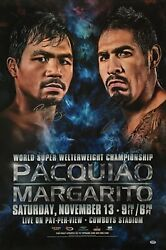 Antonio Margarito And Manny Pacquiao Signed Boxing Poster/photo Psa Ae46692