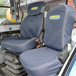 New Holland Extra Heavy Duty Seat Covers Navy | Tractor Grammer Maximo Dynamic