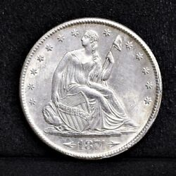 1874-s Liberty Seated Half Dollar - Unc Details 34438