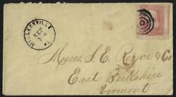 Us 1860s Three Cents Sc 65 Jumbo Margins W/ Imperf Between Right Adjoining Stamp