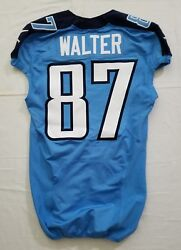 87 Kevin Walter Of Tennessee Titans Nfl Locker Room Game Issued Worn Jersey