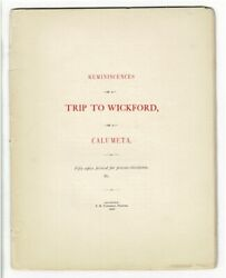 Reminiscences Of A Trip To Wickford By A Calumeta