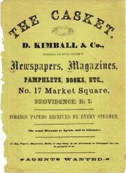 D Kimball / Casket D Kimball And Co Wholesale And Retail Dealers In Newspapers