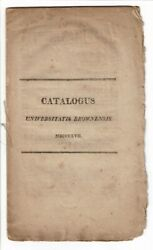 Brown University / Catalogus Universitatis Brownensis 1817 Americana