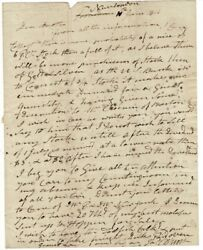 James D'wolf / One-page Autograph Letter Signed To His Brother John D'wolf Esq