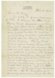 Nathaniel Greene Herreshoff / Two-page Autograph Letter Signed On Personalized