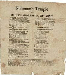 Solomon's Temple And Bruce's Address To His Army / 1820 Poetry