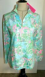 LILLY PULITZER UPF 50 Skipper Popover Top LILLY LOVES PALM BEACH Small NWT $108 $105.80