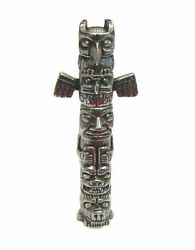 Thimble Totem Pole Six Pewter Collectible Thimbles Unique Mother's Day Gift New