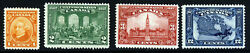 Canada Kg V 1927 60th. Anniversary Of Confederation Part Set Sg 266 To 270 Mint