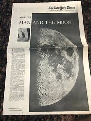 1969 New York Times Apollo 11 Man And The Moon Newspaper Special Supplement