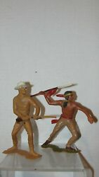 Louis Marx 6 Cowboy And Indian Toys