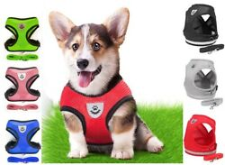 Mesh Padded Soft Puppy Pet Dog Harness Breathable Comfortable Many Colors S M L