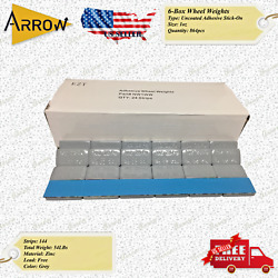 6-boxed 1-oz Grey Adhesive Tape Stick-on Wheel Weights 54lbs
