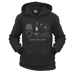 Waitin For Parts Kids Hoodie Pick Colour And Size Gift Present Drift Jdm Car