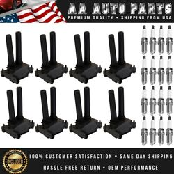 Set Of 8 Ignition Coils And 16 Spark Plugs For Dodge Ram Charger Challenger Uf504