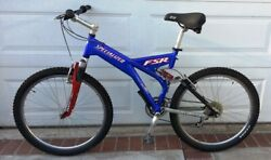 Specialized Fsr Mountain Bicycle Direct Drive W Rock Shox-blue