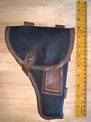 Black/brown Leather Military Flap Holster Russian Tokarev Rt-33