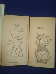 Lot Of 2 Vintage Sewing Pattern Misses Waist Apron And Full Apron 2280 And 2868