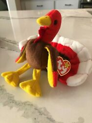 Retired Ty Beanie Baby Gobbles The Turkey Rare Mint Condition Multiple Tag Error