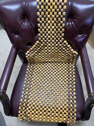 Vintage Wooden Bead Car Seat Cover Massage Cushion Natural Wood Comfort Cooling