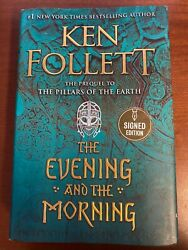The Evening And the morning Ken Follett Signed Autographed Copy $59.99