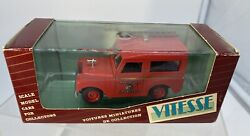 Vitesse 1/43 Collectible Diecast 1960 Land Rover Manchester Fire Brigade 471
