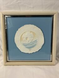 Wess Signed Numbered Coa Hand Cast Paper-colored Sand Dollar Framed Beach A863