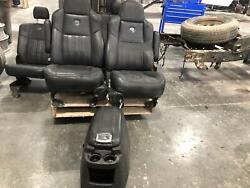 2001-2004 Ford F250sd Front Seat Set Bucket W/console 40/40 Captains Leather Pwr