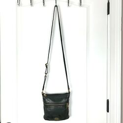 Fossil Leather Voyager Small Crossbody Bag Purse Travel Packable Black $22.20