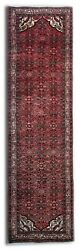 Hand-woven Carpet Runner Traditional Rug Oriental Red Wool Rug 110x408 Cm