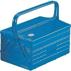 Trusco 3 Trays Double Layer Steel Tool Box Blue Storage Case Japan New