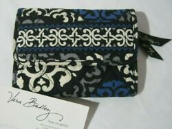 Vera Bradley Canterberry Cobalt Euro Wallet Trifold 4 Purse Tote Backpack Euc