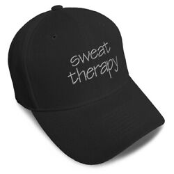 Dad Hats For Men Workout Sweat Therapy A Embroidery Women Baseball Caps Acrylic