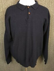 L.l.bean 100 Lambswool Made In Scotland Menand039s Long Sleeve Sweater Shirt L Tall